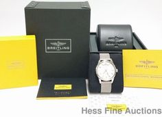 Mint A45310 Breitling Chronometer Day Date Transocean 43mm Watch Box Papers #Breitling #Sport