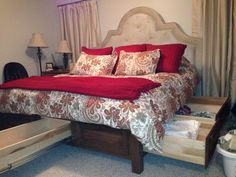 Beautiful Custom Bed With Tons Of Storage From Arrington Wood Products. You Can Find  Us On