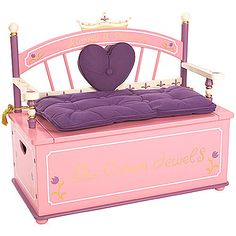 Always a Princess Toy Box Bench from PoshTots