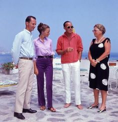 Prince Carlos Hugo and Irene, prince bernhard and queen juliana at their summer home 1967