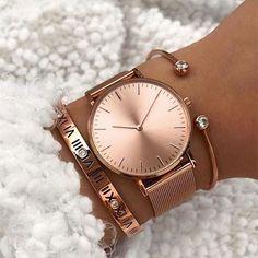 Trendy Watches, Elegant Watches, Beautiful Watches, Cool Watches, Watches For Men, Wrist Watches, Woman Watches, Ladies Watches, Rose Gold Watches