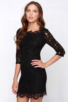 Glamorous Poker Face Black Lace Dress at Lulus.com!
