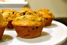 Pumpkin Almond Chocolate Chip muffins - a moist pumpkin muffin recipe that's not going to break the calorie bank.