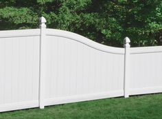 Gatehouse Emblem White Flat Top Privacy Vinyl Fence Panel