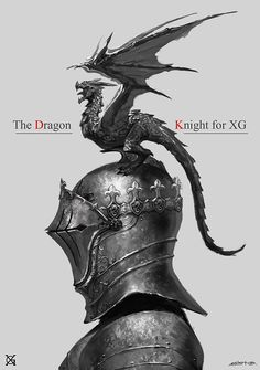 Knight's armor for dragon keeper; dragon a little smaller and closer to the helmet though.