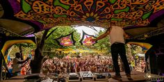 DJ, dancefloor, standing on table, stage, psychedelic, DJ Bim at Vortex OpnSource 2015 Cape Town South Africa, Psychedelic, Dj, Stage, Fair Grounds, Travel, Viajes, Destinations, Traveling