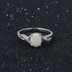Personalised Jewellery, Clothing, Electronics and lots more. Opal Wedding Ring Set, Fire Opal Engagement Ring, Cute Engagement Rings, Silver Wedding Rings, Cute Promise Rings, Opal Promise Ring, Silver Promise Rings, White Opal Ring, Silver Opal Ring