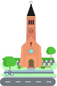 Wedding Bells and Wedding Cars Communion, Free Pictures, Free Images, Religion, Chapelle, Christian Art, Cemetery, Cartoon, Illustration