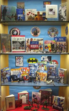 Heroes | Library Book Display