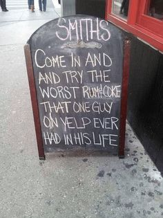 Smith's, come in and try the worst rum & coke that one guy on yelp ever had in his life
