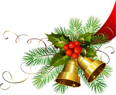 Christmas Bells PNG Clip Art Image | - Borders, Frames, Elements ...