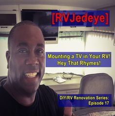 Got to have TV on the road? Check out how you mount a new TV in your RV & rhyme.. WEEEEEE!😁 Television Set, Diy Rv, News 2, Tv, Check, Tvs, Television