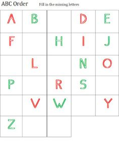 Good Work Academy: {FREE} ABC Printables