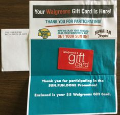 Winner in the #Walgreens Sun. Fun. Done Sweepstakes & Instant Win Game #freestuff #freebies #samples #free