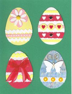 Large Easter Egg embellishments - Set 1
