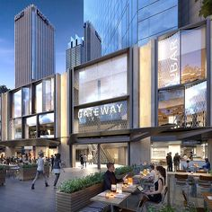 Gateway Creates Fresh New Frontage for Circular Quay Shopping Mall Architecture, Retail Architecture, Commercial Architecture, Architecture Design, Retail Facade, Shop Facade, Commercial Complex, Commercial Street, Building Exterior
