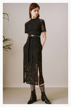 Markus Lupfer Pre-Fall 2017 Fashion Show Collection: See the complete Markus Lupfer Pre-Fall 2017 collection. Look 4 Fashion 2017, Fashion News, Kids Fashion, Phresh Out The Runway, All Black Outfit, Fashion Show Collection, Autumn Winter Fashion, Beautiful Dresses, Markus Lupfer