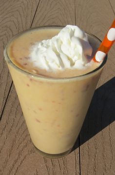 Peaches and Cream Smoothie - A sweet and creamy frozen drink made with coconut milk and fresh peaches.