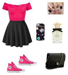 """Untitled #34"" by radioactivenovas on Polyvore featuring Converse, Miss Selfridge, Chanel, Dolce&Gabbana and Nikki Strange"