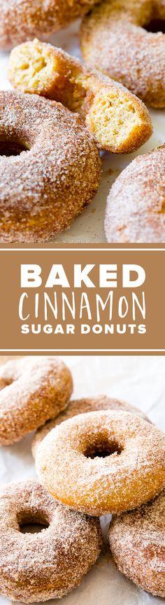 Fresh baked and EASY baked cinnamon sugar muffins recipe!! http://sallysbakingaddiction.com/2015/06/09/baked-cinnamon-sugar-donuts/