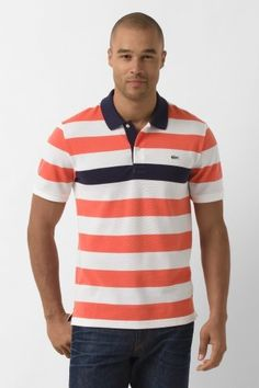 Lacoste Short Sleeve Bar Stripe Polo Shirt : Fall Preview