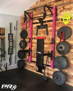 Home Gym Basement, Home Gym Garage, Gym Room At Home, Crossfit Garage Gym, Home Made Gym, Diy Home Gym, Home Gym Decor, Workout Room Home, Workout Rooms