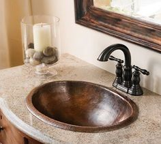 Copper Bath Sinks | Vanities | Copper Sink Bathroom | Copper Sink Sales