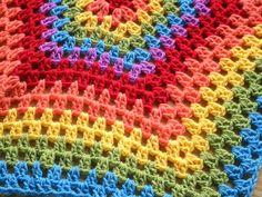 Granny Stripes Hexagon Blanket