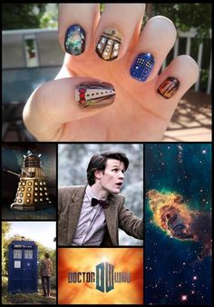 Doctor Who manicure #doctor #dr #who i think i might just do the dalak one (it is the middle finger for those who dont know)