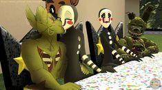 FNAFNG_Alternate realities 2 by NamyGaga Video Games Funny, Funny Games, Five Nights At Freddy's, Marionette Fnaf, Fnaf Cosplay, Freddy 's, Fnaf Drawings, Funny Comic Strips, Anime Fnaf