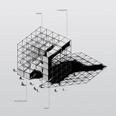 Concept image_A generic cube made from scaffolding