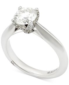 Marchesa Diamond Engagement Ring (1-5/8 ct. t.w.) in 18k White Gold