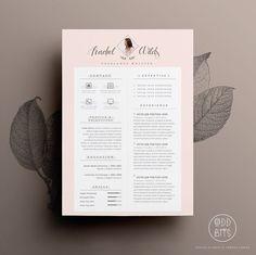 Reprendre la conception de CV lettre de par OddBitsStudio sur Etsy