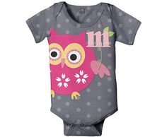 Personalized Owl Onesie Baby Pink Owl Infant by SimplySublimeBaby, $24.95