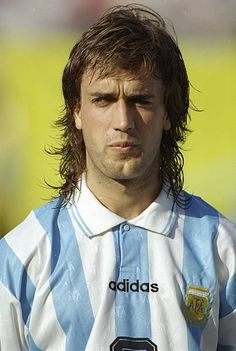 Portrait of Gabriel Batistuta of Argentina before the World Cup match against Bulgaria at the Cotton Bowl in Dallas Texas USA Bulgaria won the match...