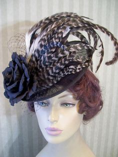 Hat with feathers
