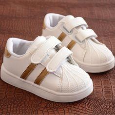 af9a2943543 Kinderen Schoenen Meisjes Jongens Sportschoenen Antislip Zachte Bodem Kids  Baby Sneaker Casual Platte Sneakers witte Schoenen