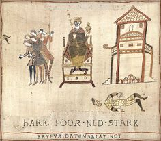 The Bayeux Tapestry is an embroidered cloth—not an actual tapestry—nearly 70 metres (230 ft) long, which depicts the events leading up to the Norman conquest of England concerning William, Duke of Normandy, and Harold, Earl of Wessex, later King of England, and culminating in the Battle of Hastings.