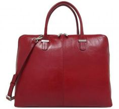 Businesstasche Damen Claudio Ferrici Red Schultergurt - Bags & more Red, Bags, Laptop Tote, Leather Cord, Silver, Handbags, Dime Bags, Lv Bags, Purses