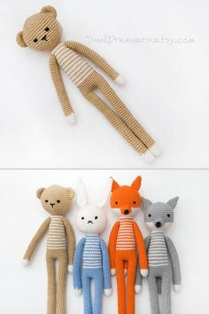 Baby bear Little bear Cutie Teddy bear Handmade baby toy Crochet bear toy Plush bear Nursery decor Baby shower gift Amigurumi Interior Doll (25.00 USD) by SmallDreamers