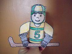 Toliet Paper roll Hockey player
