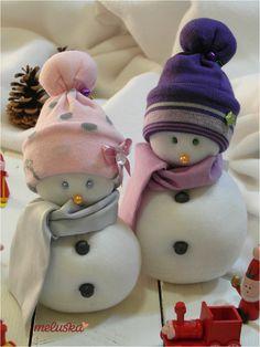 Sock Snowman, Make A Snowman, Snowman Ornaments, Christmas Snowman, Christmas Crafts, Merry Christmas, Christmas Ornaments, Snow Men, Different Holidays