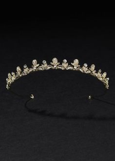Bridal Tulip Design Tiara with Rhinestones, David's Bridal $99.00