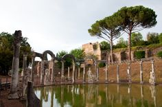 Emperor Hadrian's villa at Tivoli, a day trip from Rome and a chance to see a gorgeous ancient Roman villa! Beautiful Castles, Beautiful Places, Simply Beautiful, Day Trips From Rome, Roman History, Art History, Medieval Town, Visit Italy, By Train