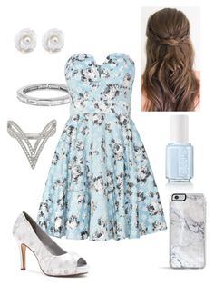 """""""Blue Roses"""" by briony-jae ❤ liked on Polyvore featuring TFNC, Dyeables, women's clothing, women, female, woman, misses, juniors, pretty and Blue"""