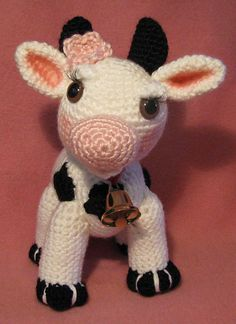 PDF CROCHET PATTERN br br MollyMoo is a shy and adorable little cow with fluttery eyelashes blushing cheeks and a sweet smile She measures - tall and long br br Crochet Animal Patterns, Stuffed Animal Patterns, Amigurumi Patterns, Crochet Animals, Dinosaur Stuffed Animal, Cow Pattern, Free Pattern, Crochet Cow, Crochet Things