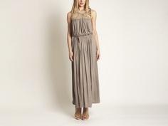 {Drawstring Maxi Dress} by Akiko - fabulous Grecian style; the neckline is a piece of art!
