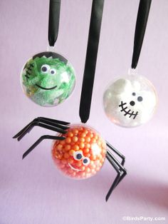 Halloween Little Monsters candy baubles party favors by Bird's Party