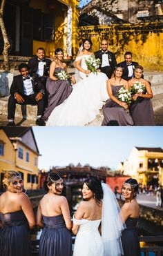 Hoi An old quarter is the perfect background for your wedding shots