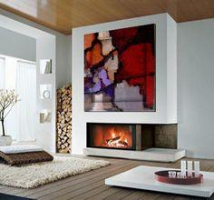 Cuadros modernos 3D.  Pintura abstracta con mucha textura realizada  sobre lienzo 3D